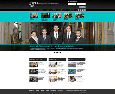 International Policy Leadership Institute Website design Photo